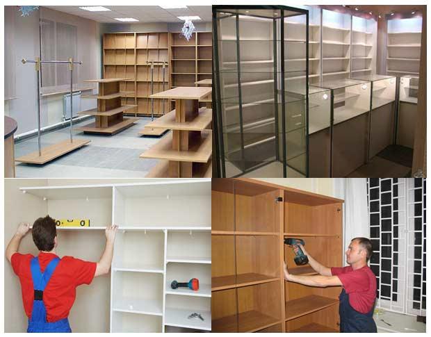 Разборка и сборка мебели и торгового оборудования Москва